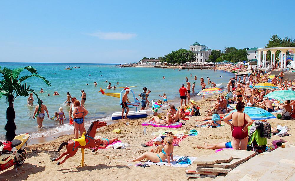 парк Фрунзе Евпатория - пляж