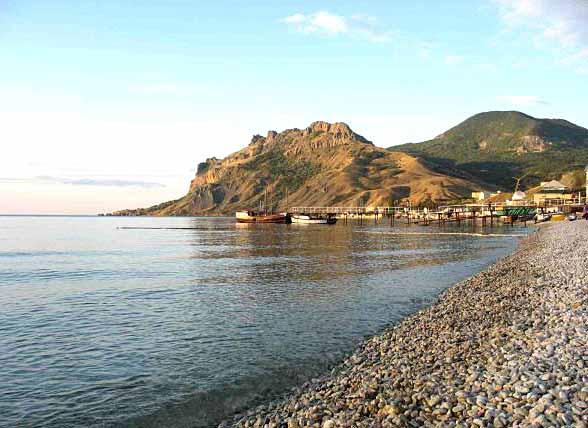 Пляж в Евпатории, отель у моря Уют